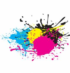 CMYK paint splat vector image