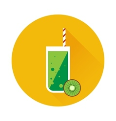 Kiwi shake or juice icon vector image