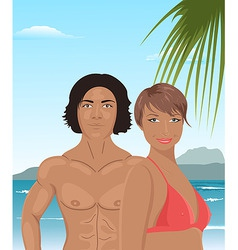 Sexy couple vector