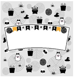 Cute halloween background vector