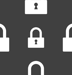 Lock sign icon locker symbol seamless pattern on a vector