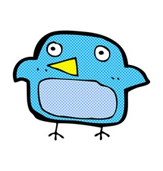 Comic cartoon bluebird vector