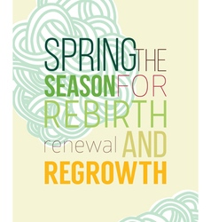Spring poster for recovery of strength and energy vector