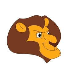 Smiling lion head vector