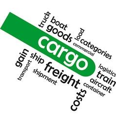 Word cloud cargo vector