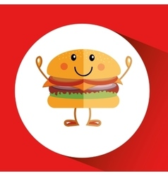 Fast food menu design vector