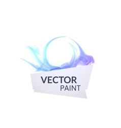 Abstract digital watercolor ink virtual technology vector image
