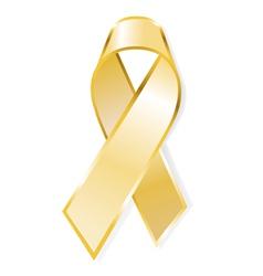 aids awareness yellow ribbon vector image vector image
