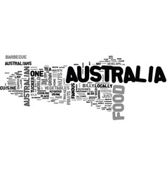 Australia food text word cloud concept vector