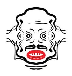 Aztec face vector image