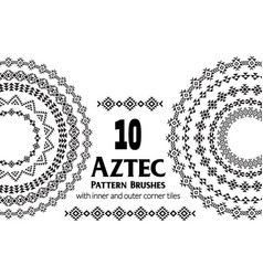 aztec pattern brushes vector image