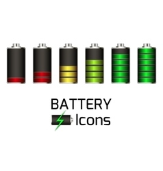 Battery Icons set vector image