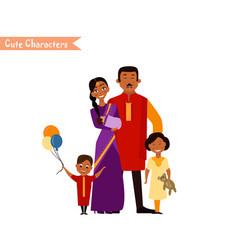 Big happy indian family vector