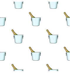 bottle of champagne in an ice bucket icon in vector image vector image