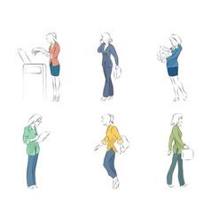 businesswomen in action vector image