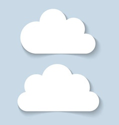 Clouds applique banners vector image vector image