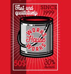 color vintage house works banner vector image
