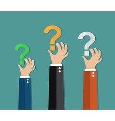 Concept of questioning vector image vector image