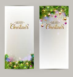 Elegant christmas backgrounds with evening balls vector