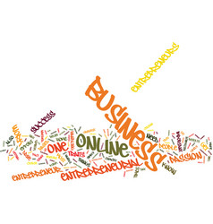 Entrepreneur online text background word cloud vector