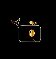 golden dolphin vector image