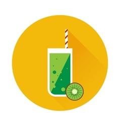 Kiwi shake or juice icon vector image