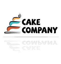 logotype for a confectioner vector image vector image