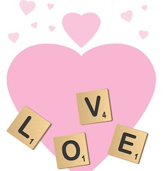 Love scrabble vector image