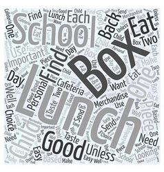 Lunch box word cloud concept vector