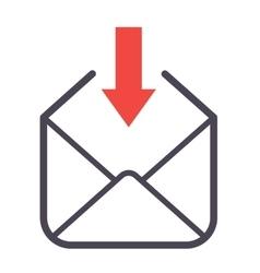 Mail icon symbol vector image vector image