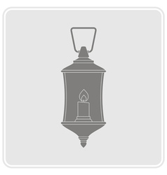 Monochrome icon with lantern vector