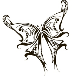 Monochrome tattoo butterfly vector