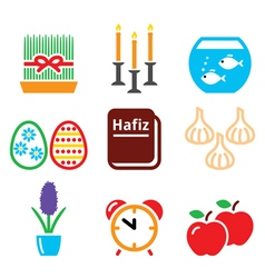 Nowruz - persian new year icons set - 21 march vector