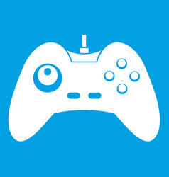 One joystick icon white vector