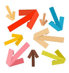 Paper Arrows Set in Retro Colors vector image vector image