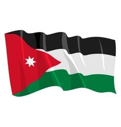 Political waving flag of jordan vector