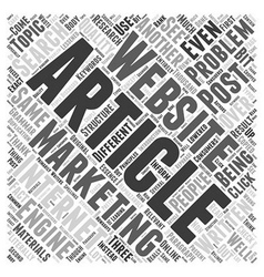 Problems in article marketing word cloud concept vector