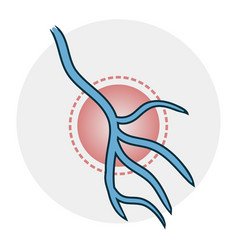 Problems with veins icon vector