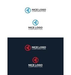 sound speaker logo vector image vector image