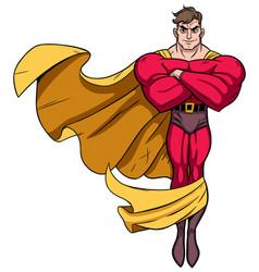 superhero flying 3 vector image vector image