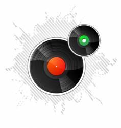 vinyl disks vector image