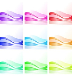 wave background design vector image
