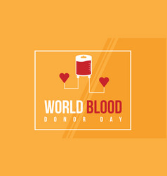World blood donor day style banner collection vector