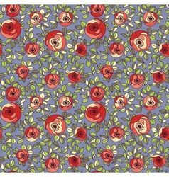 Vintage multicolor roses seamless pattern vector image