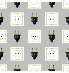 Power Plug Seamless Pattern vector image