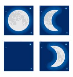 moon phase vector image