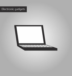 Black and white style icon a laptop vector
