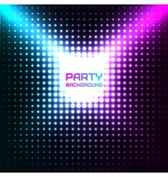 Shiny disco party background design vector