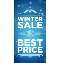 Winter sale and Best prise vector image