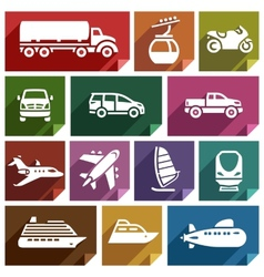 Transport flat icon-07 vector image